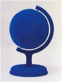 la terre bleue / the blue earth by yves klein