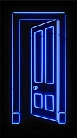 blue door by gavin turk