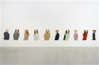 installation view women in jackets by alex katz