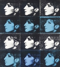 12 barbara's (blue & white) by deborah kass