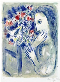 femme pres de la fenetre (woman by a window) by marc chagall
