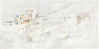 paysage blanc by maria helena vieira da silva