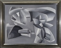 grey scale composition by john ferren