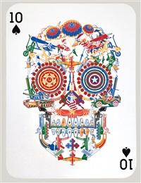 war skull (10 of spades) by jacky tsai