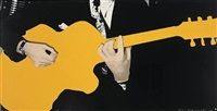 person with guitar (yellow) by john baldessari