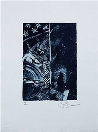summer (blue) by jasper johns