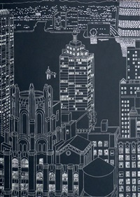 lights and towers by yvonne jacquette