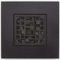 black excursion 5 by louise nevelson