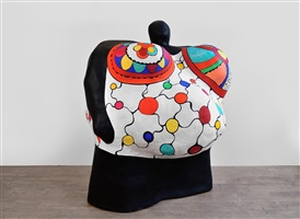 nana boule (maillot blanc avec polka dots) by niki de saint phalle