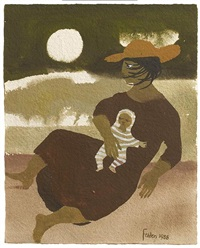 woman and baby by mary fedden