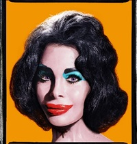 amanda as andy warhol's liz taylor (orange) by david lachapelle