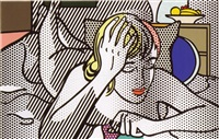 thinking nude (from the nudes series) by roy lichtenstein