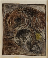 tine mine: miner emerging from a stope by graham sutherland