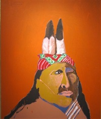 indian with one eye by fritz scholder