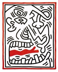 untitles #2 (red tongue) by keith haring