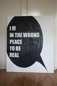 i'm in the wrong place to be real by alicia framis