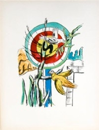 les deux oiseaux (both birds), from la ville series by fernand léger