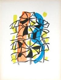 les parapluies (unbrellas), from la ville series by fernand léger