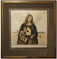 the mystical rose madonna by salvador dalí