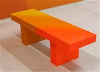 yellow to orange bench by andrew schoultz