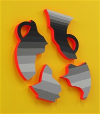 shattered vessel (orange) by andrew schoultz