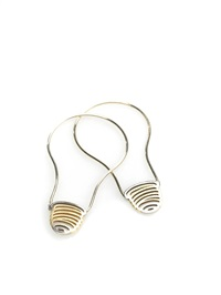 light bulb earrings by michael craig-martin