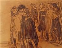going to school by théophile alexandre steinlen