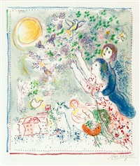 chasing the bluebird by marc chagall