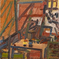 in the studio ii by frank auerbach