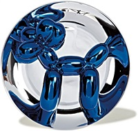 blue ballon dog by jeff koons