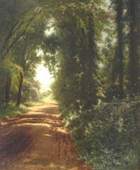 country road by arthur parton