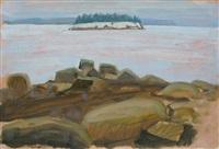 island above rocks by joseph fiore