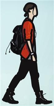 manga boy by julian opie