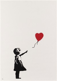 girl with balloon signed by banksy