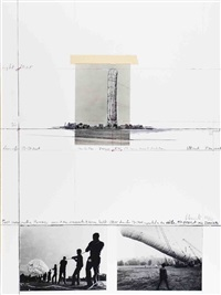 lot 2: 5600 cubic meter pack, signed by christo and jeanne-claude