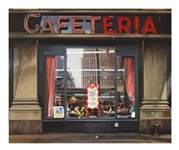lot 42: cafeteria, signed by richard estes