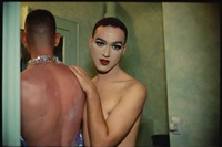 jimmy paulette and taboo! in the bathroom, nyc by nan goldin