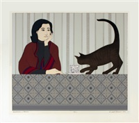 lot 155: meditation and minou, signed by will barnet