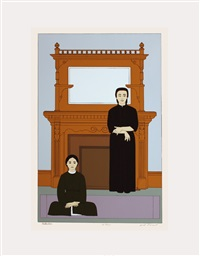 lot 197: reflection, signed by will barnet