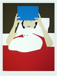 lot 309: woman reading, signed by will barnet
