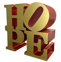hope gold-red by robert indiana