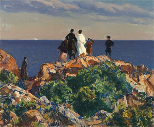 bass rocks, gloucester by gifford beal
