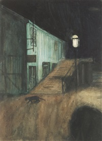 the alley at night by stuart davis