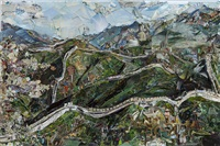 the great wall of china by vik muniz