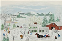 christmas by grandma moses