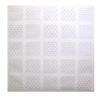 les 24 superpositions possibles de deux trames de tirets, 0° - 90° by françois morellet