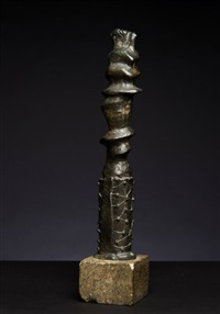 upright motive: maquette no. 6 by henry moore
