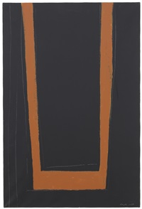 open no. 146: umber on black by robert motherwell