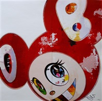 and then 3000 (red) by takashi murakami
