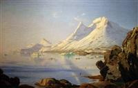 sunlit greenland fjord by carl (jens erik c.) rasmussen